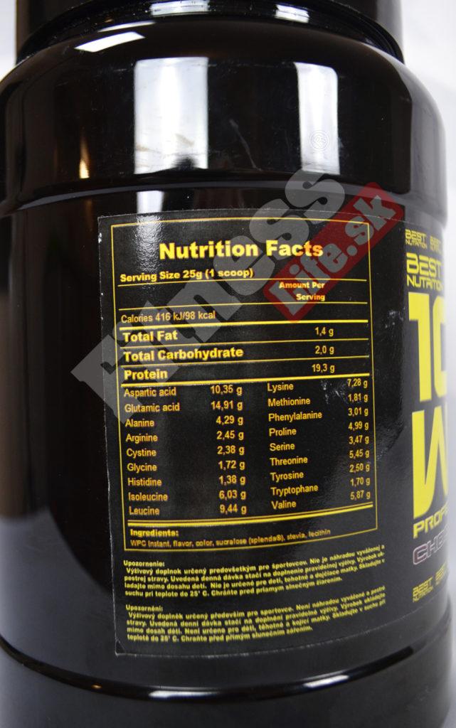 srvatkovy protein recenzia best nutrition vyzivove hodnoty