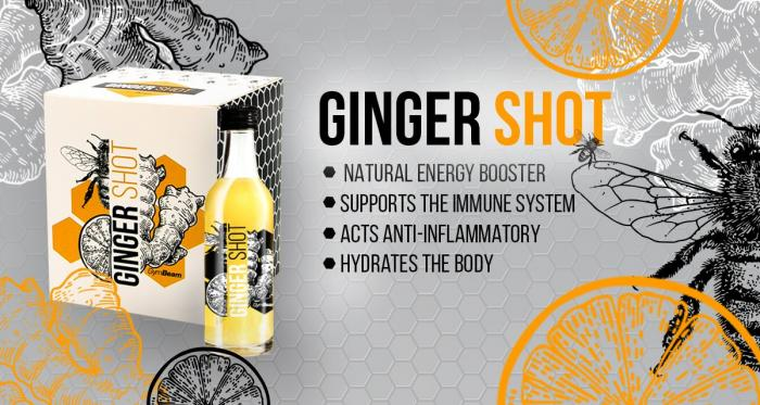 Ginger, shot, ginger shot, gymbeam